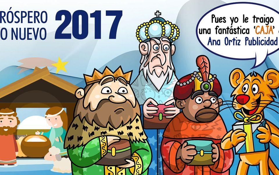 cabecera Felicitación de Navidad de Ana Ortiz Publicidad