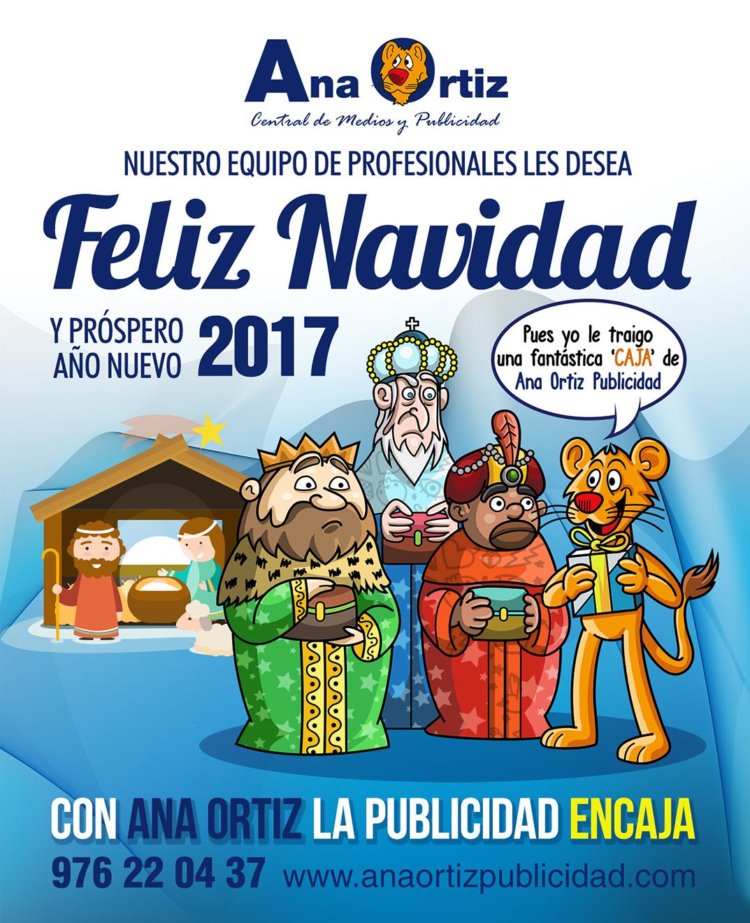 Felicitación de Navidad de Ana Ortiz Publicidad 2016