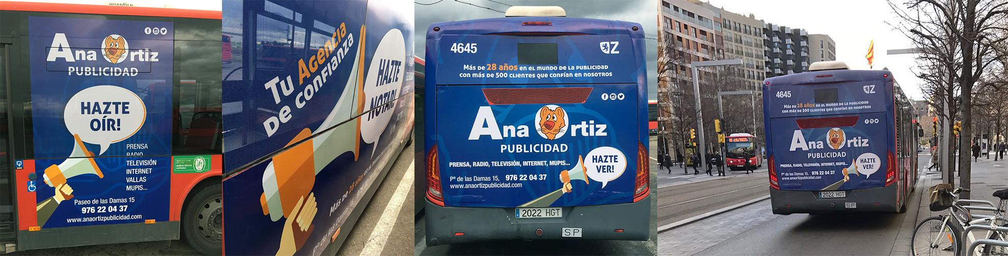 Autobús Plus Zaragoza - Ana Ortiz Publicidad