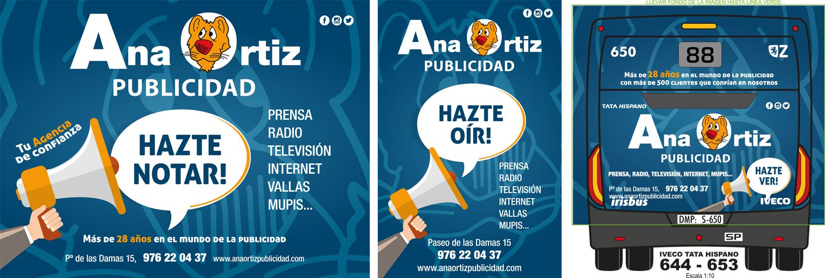 Diseño autobus plus Auzsa Zaragoza