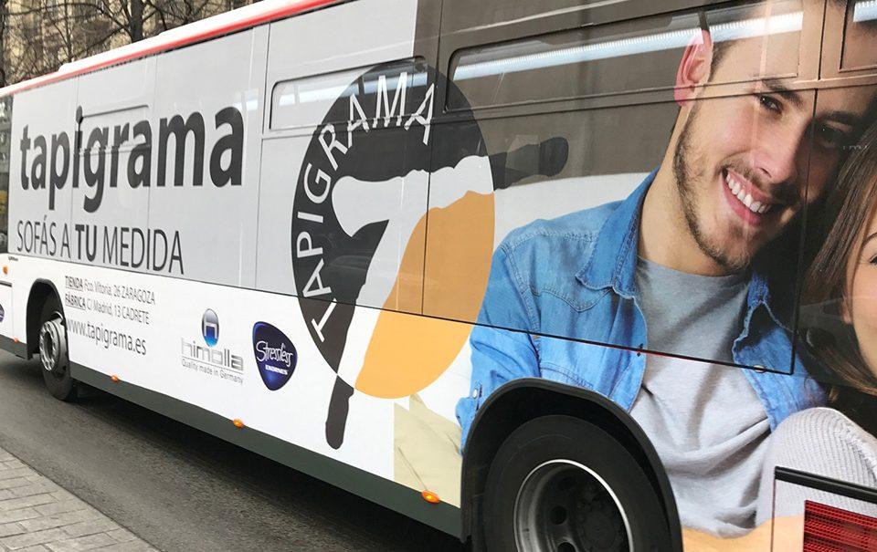 Autobús Auzsa integral - Publicidad Tapigrama - Ana Ortiz, Zaragoza