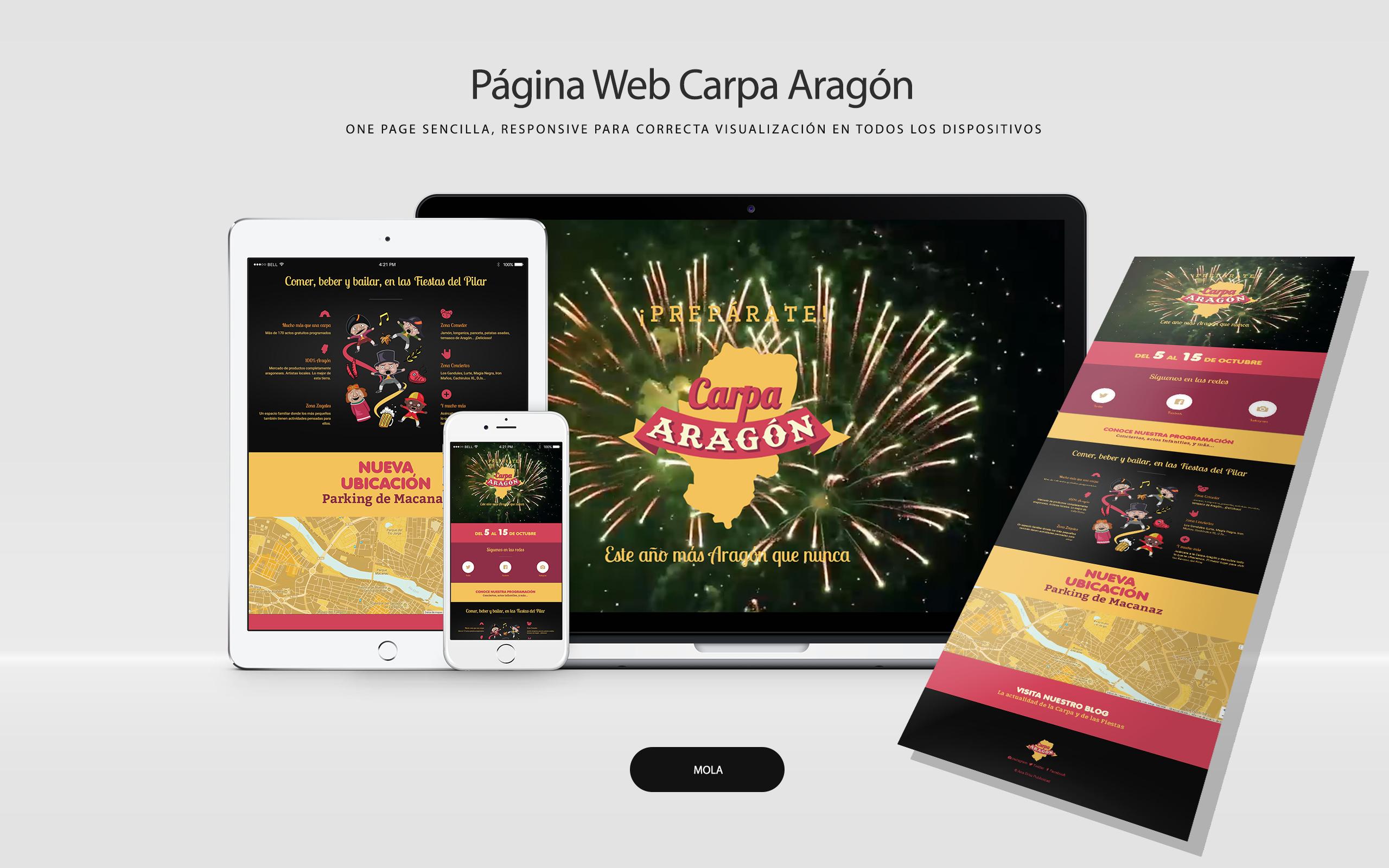 Página web Carpa Aragón