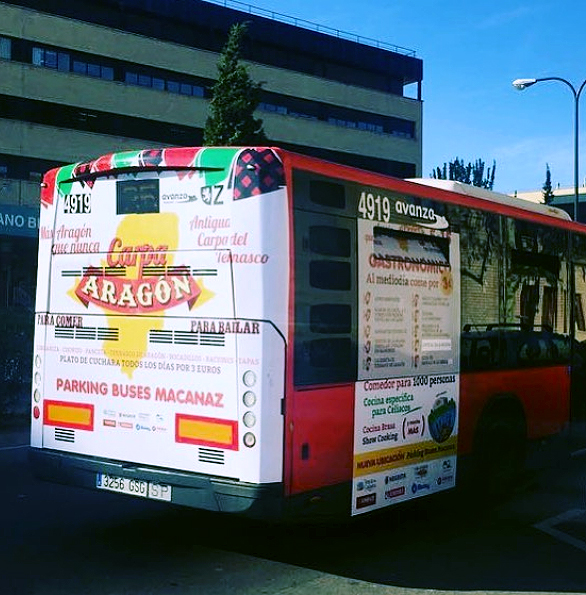 Autobús Carpa Aragón