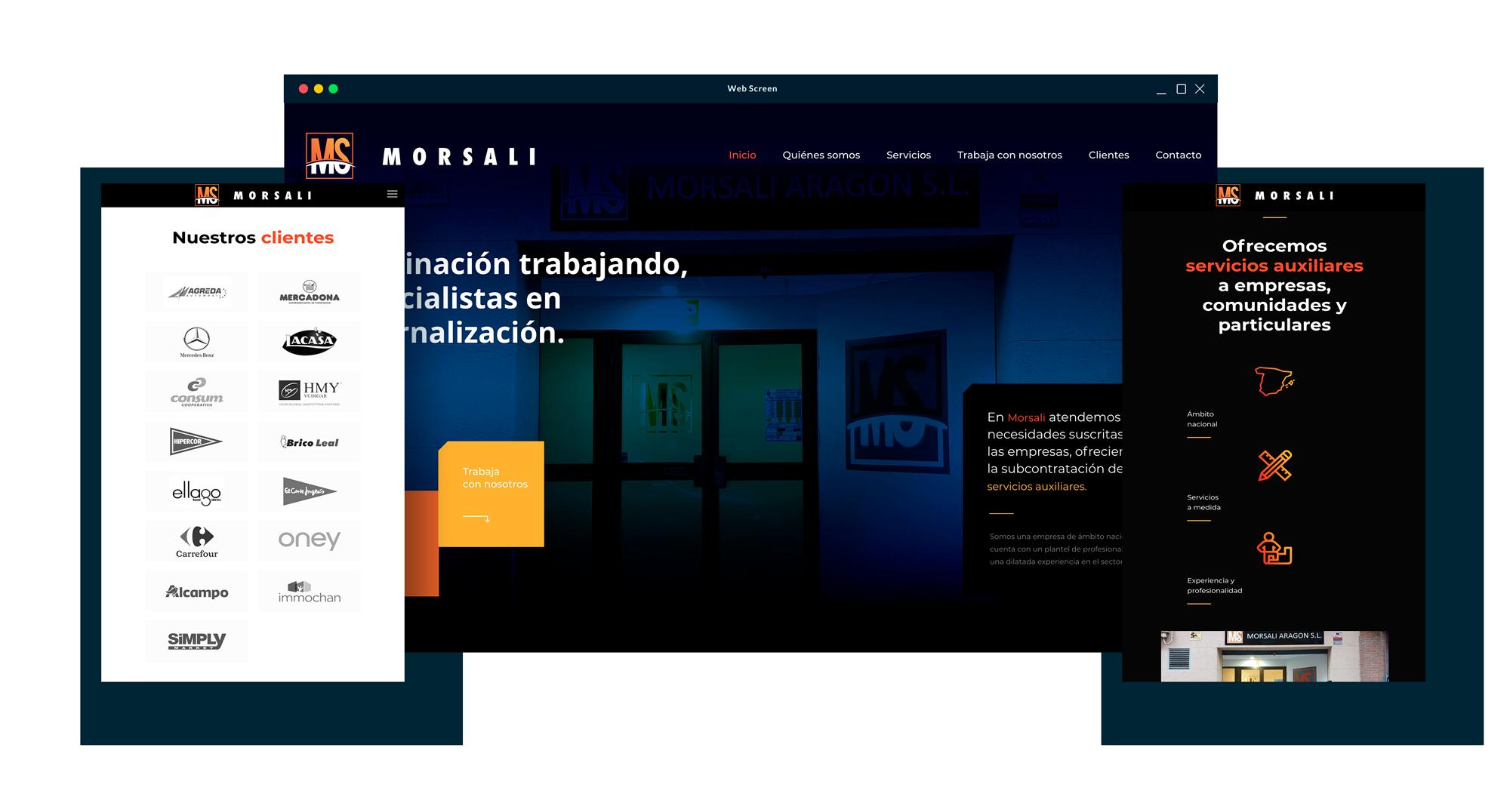 Página web de Morsali - Zaragoza