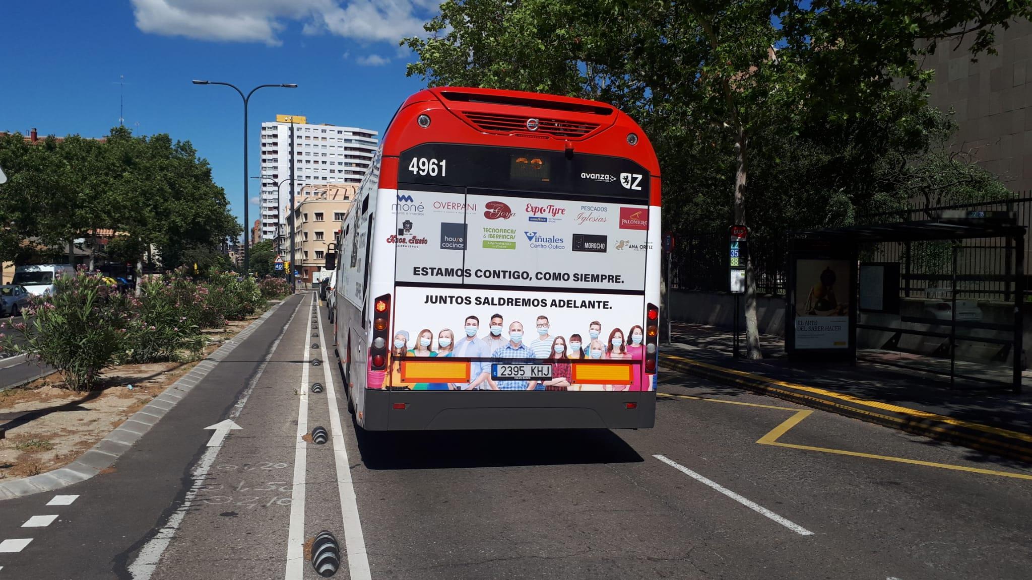 Autobus Integral Zaragoza Trasera