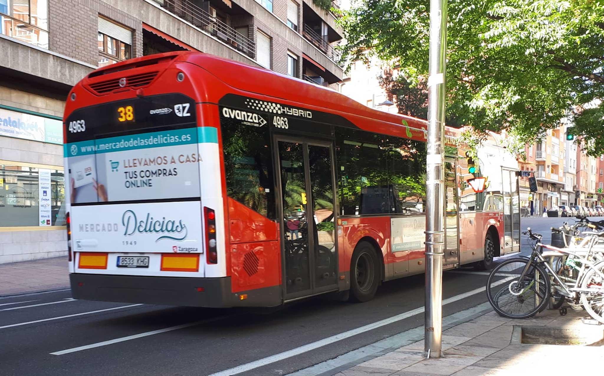 Autobus estandar con trasera integral, Zaragoza