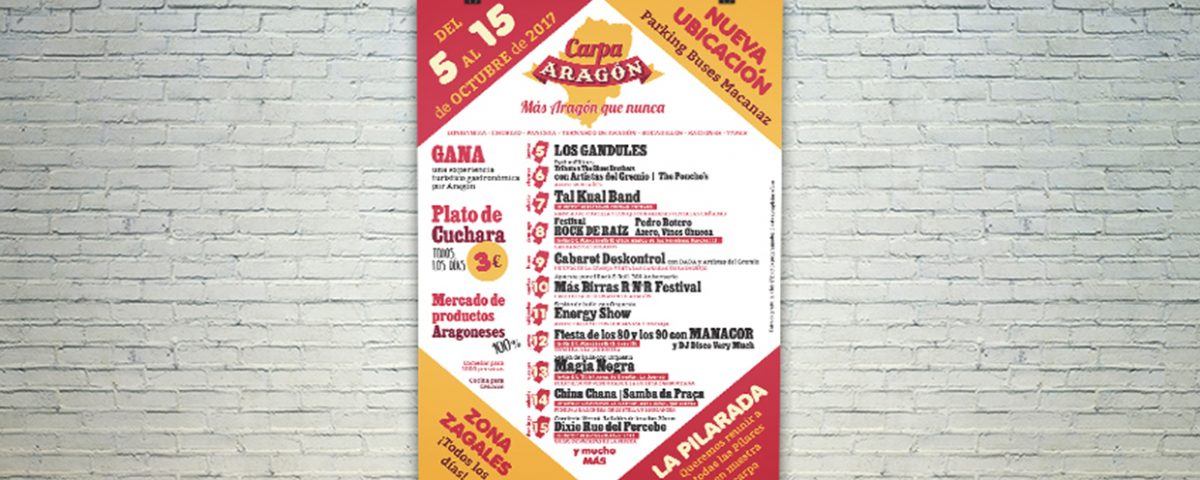Cartel Carpa Aragón 2017